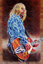 LEAD GUITAR - STYX by Bill James Pastel ~ 27 x 19