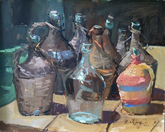 Jugs of Wine - Oil