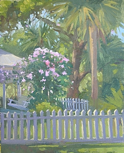 Porch Full of Roses by Katie Dobson Cundiff Oil ~ 14 x 11