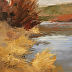 Riverbank Reeds by Peggy Immel