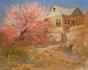 Apple Blossom Time by Peggy Immel Oil ~ 8 x 10