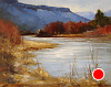 Rio Grande Red, White, and Blue by Peggy Immel Oil ~ 16 x 20