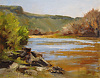 Rio Grande Shoreline by Peggy Immel Oil ~ 11 x 14