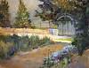In Mrs Walsh's Garden by Peggy Immel Oil ~ 9 x 12
