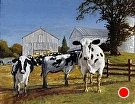 Welcome Committee, Earl Township PA (2009) by Dan O'Rourke Oil ~ 22 x 28