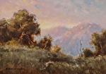 Summit at Dawn by Yvonne Branchflower Oil ~ 5 x 7