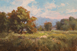 Oak Woodland by Yvonne Branchflower Oil ~ 4 x 6""