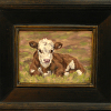 "Hereford calf study ""Early Spring"""