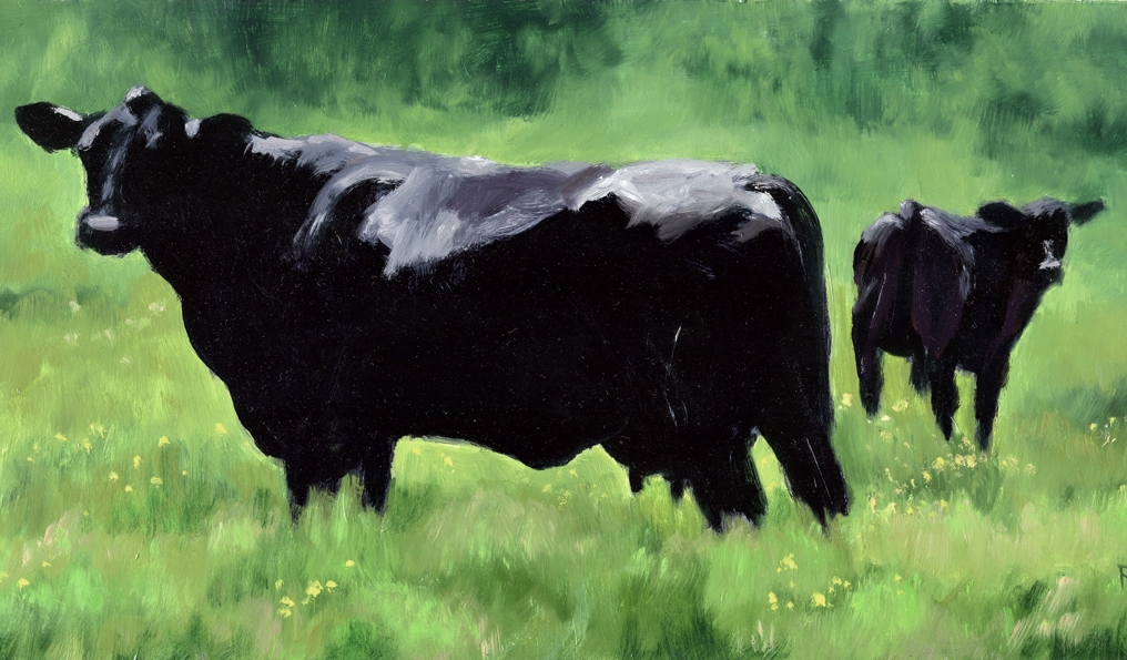 denise rich work zoom black angus cow and calf. Black Bedroom Furniture Sets. Home Design Ideas