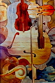 "Just Fiddlin' Around by Jim Burns Watercolor ~ 21"" x 14"""
