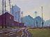 Down by the Tracks by carol strockwasson