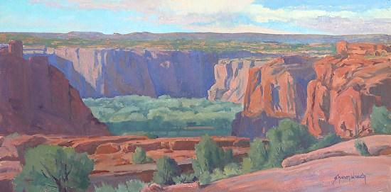 Sun and Shadows Across the Canyon - Oil