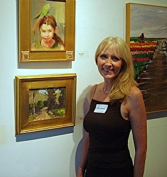 Sharon Weaver at one of her first exhibitions in 2008