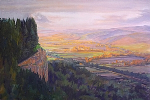 Umbria Autumn by Sharon Weaver Oil ~ 24 x 36