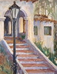 Casa Steps by Sharon Weaver Oil ~ 14 x 11