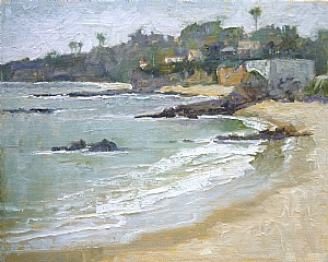 Laguna Beach by Sharon Weaver Oil ~ 8 x 10