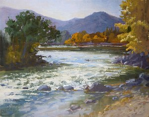 Kern River Rapids by Sharon Weaver Oil ~ 11 x 14