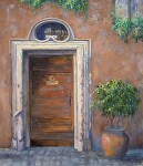 Carved Portal by Sharon Weaver Oil ~ 24 x 20
