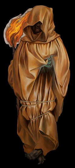 "Mourner by Laura Buss Oil ~ 66"" x 28"""