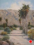 Desert Palms by Susan Leonhard Oil ~ 16 x 12
