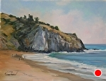 Laguna Bluff by Susan Leonhard Oil ~ 9 x 12