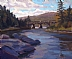 Railroad Bridge on the Matapedia by Gordon Allen