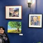 Rohini Mathur - Art display at Aeipathy Patisserie