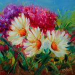 Rohini Mathur - UW Botanic Gardens Oil Painting:Daisies & Hydrangeas - Supply Kit
