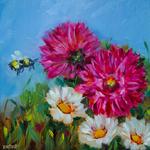 Rohini Mathur - Plein Air Oil Painting: Blooming Summer Garden