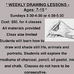 FIRST GALLERY OLATHE  - DRAWING WEEKLY Ages 7-15 $80 for 4 3:30-4:30 or 4:30-5:30