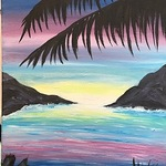 """FIRST GALLERY OLATHE  - PAINT NIGHT """"TROPICAL BREEZE"""" JUNE 10 &15, 6:30-8:30 $25."""