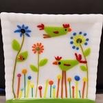 FIRST GALLERY OLATHE  - FUSED GLASS PLATE  MONDAY MAY 24  TIME: 6:30-8:30  COST: $55.