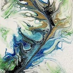 FIRST GALLERY OLATHE  - ACRYLIC POUR PAINTING  MONDAY MAY 3, 6:30-8:30 $25.