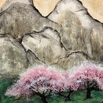 """FIRST GALLERY OLATHE  - PAINT NIGHT """"MYSTIC CHERRY BLOSSOMS""""  THURSDAY MAY 13, 6:30-8:30 $25."""