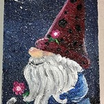 """FIRST GALLERY OLATHE  - PAINT NIGHT """"GNOME PAVER""""  TUESDAY MAY 18 ,6:30-8:30  $25."""