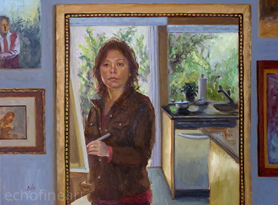 Kitchen God's Painter - Oil
