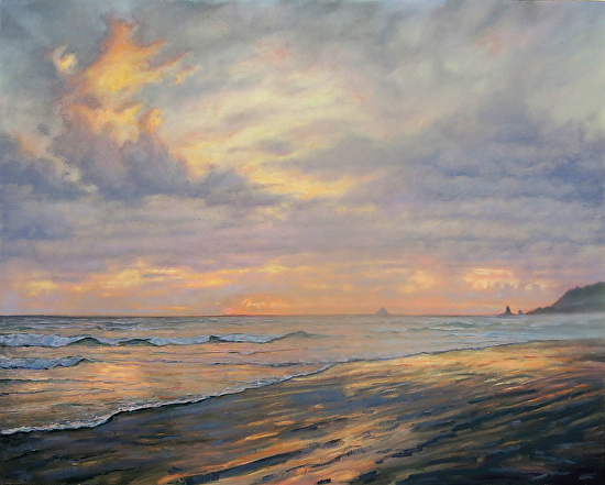 Cannon Beach clouds - Oil
