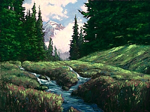 Mt hood Snow Melt by Michael Orwick Oil ~ 30 x 40