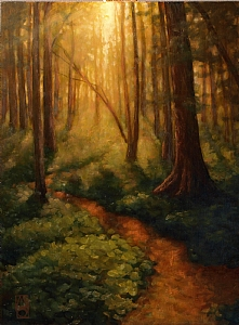 The Dance of Trees and Light by Michael Orwick Oil ~ 24 x 18