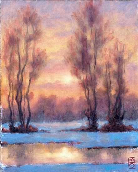 Snow Shawl by Michael Orwick Oil ~ 10 x 8