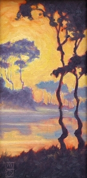 Lyrical Silhouettes by Michael Orwick Oil ~ 12 x 6