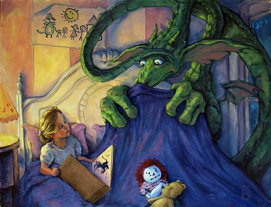 Story Time by Michael Orwick Oil ~ 30 x 40