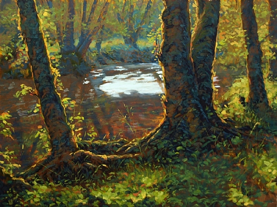Little Creek by Michael Orwick Oil ~ 30 x 40