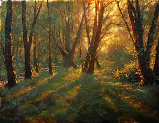 morning forest by Michael Orwick Oil ~ 30 x 40