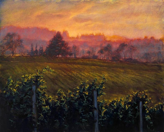Pinot and Palette by Michael Orwick Oil ~ 24 x 30