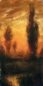 Stir of Echos by Michael Orwick Oil ~ 16 x 8