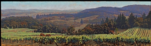 Youngberg Hill Vineyard by Michael Orwick Oil ~ 18 x 60