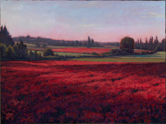 Crimson Clover by Michael Orwick Oil ~ 30 x 40
