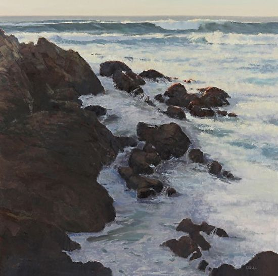 Rocks And Foam - Oil