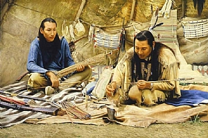 THE ARROW MAKERS by ED COPLEY Oil ~ 40'' x 60''